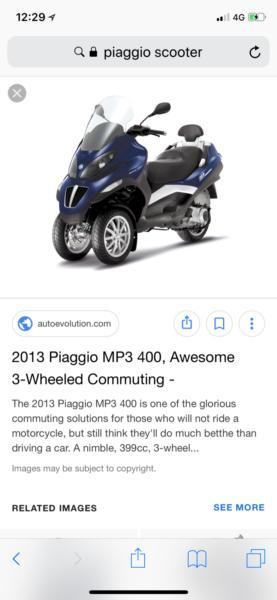 Wanted: Wanted Piaggio MP3 400 or Gilera