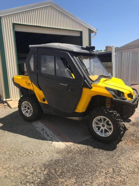 Can-Am ATV and trailer