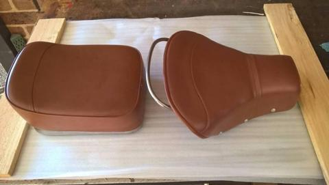 VESPA SCOOTER SEATS - Genuine 66/67 Model - Very Good Cond