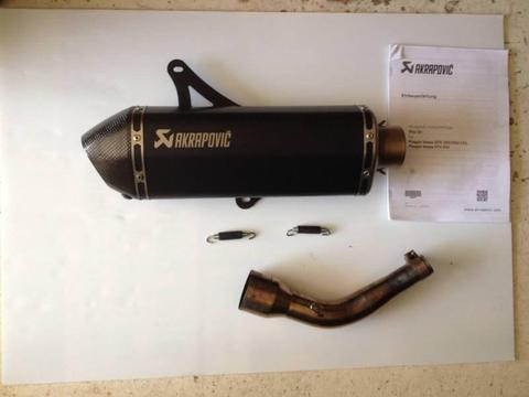 Akrapovic Exhaust for Vespa Piaggio GTS 300,250,125. GTV 250