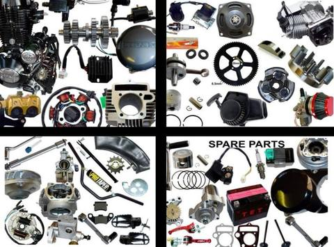 SPARE PARTS, for Import Dirt Bikes & Quads