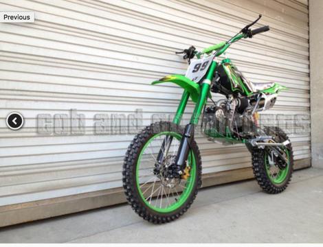 125cc Dirt Bike For Sale BIG WHEEL Multiple Colours Cheap Freight
