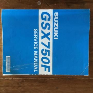 Suzuki GSX750 F Service manual