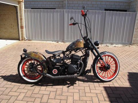 Custom bobber, chopper. Hunter 350
