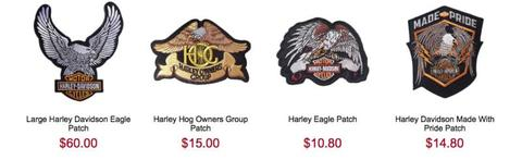 Motorcycle patches and caps