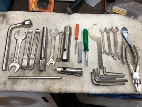 Motor cycle tool kit for BMW