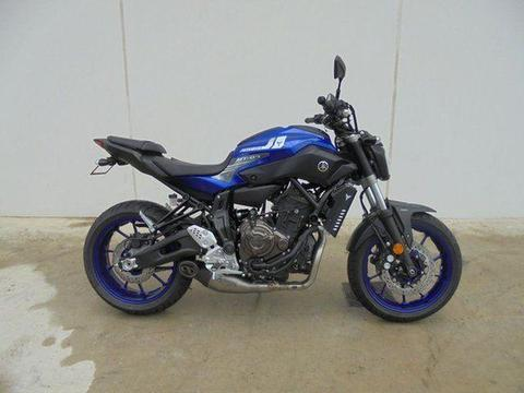 2017 Yamaha MT-07 HOA (abs) 690CC 689cc