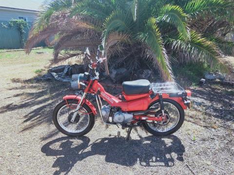 2002 Honda ct110 postie bike