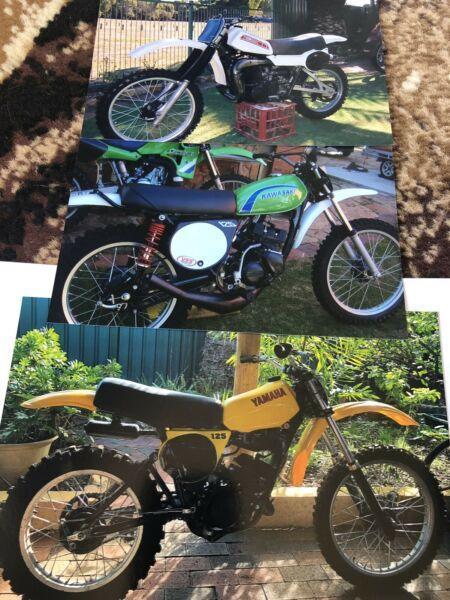 Vintage moto x bikes