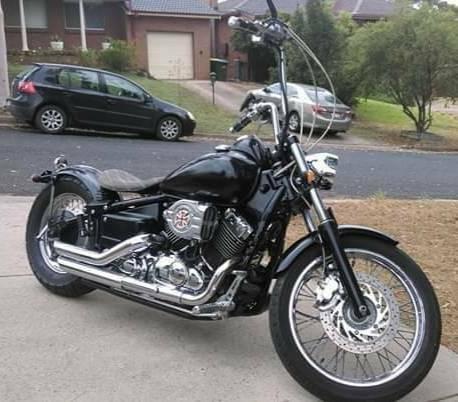 XVS650 motorbike