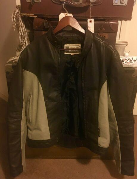 Vintage Motorcycle Leather Jacket, Walden Miller