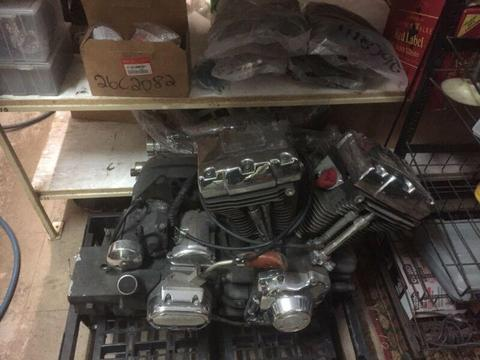 Harley trike motor with a reverse gear 99 model fuel injected