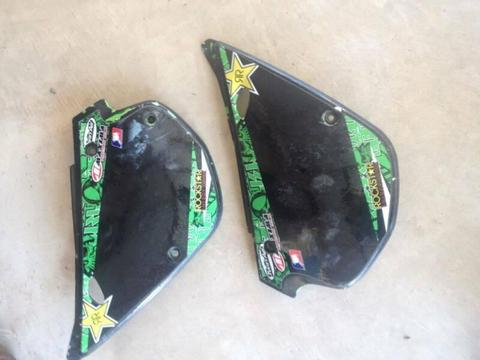 99 Kawasaki KX100 KX 100 1999 Set of Side Covers LH and RH