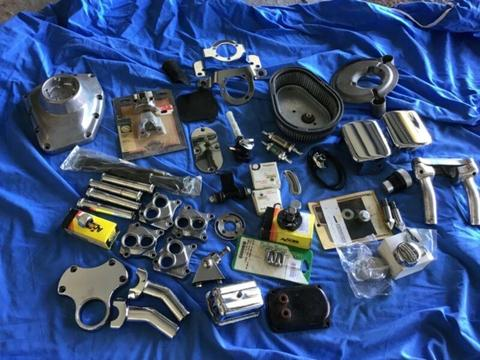 Harley parts, assorted new and used