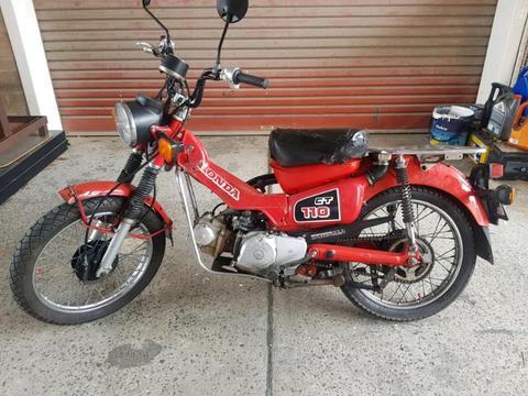 Honda ct110 postie bike