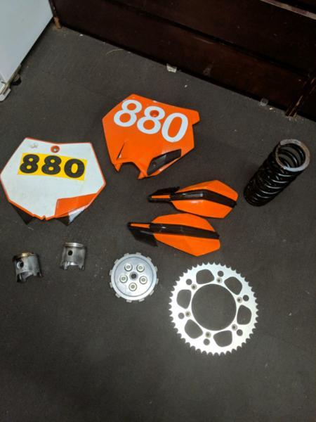 Range of dirtbike parts (ktm and others)