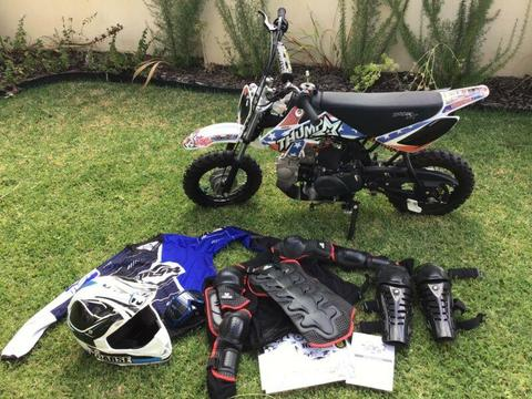 Thumpstar 86cc Kids Motorcycle/Pitbike with Accessories