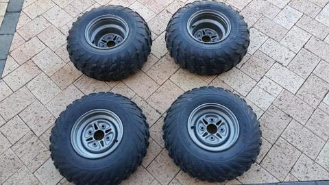 Quad atv rims and tyres to suit Yamaha Suzuki Honda 110 pcd