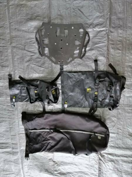 Dry bags and Rack for Motorcycle