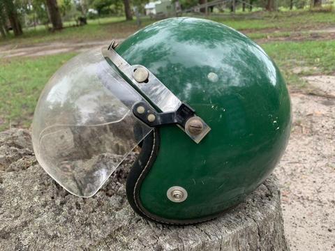 Old school motorcycle helmet