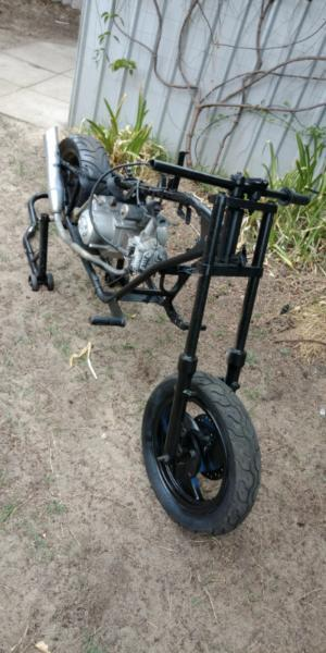 Chopper frame and engine