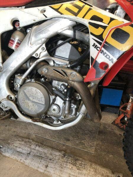 2014 honda crf450 motor only wrecking parts