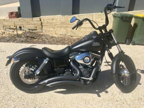 2014 Street Bob Harley custom for sale