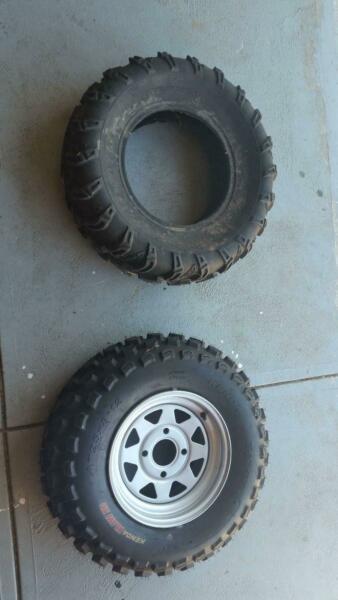 ATV quad tyres never used 25 x 8 - 12