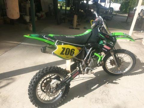Kx85 motocross bike