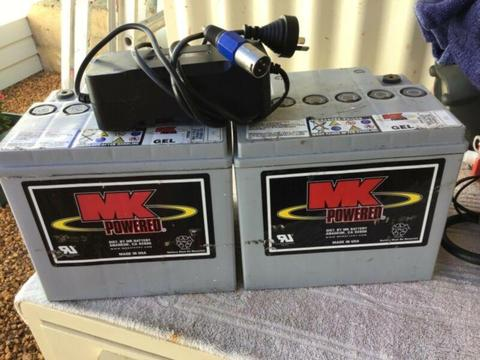 Mobility Scooter batteries and charger for sale, suit shoprider