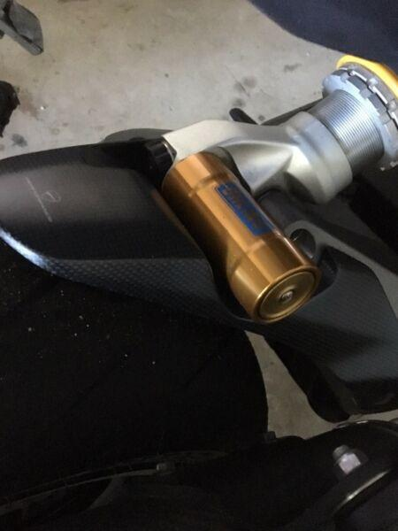 Carbon rear wheel hugger Monster 1200S 2017