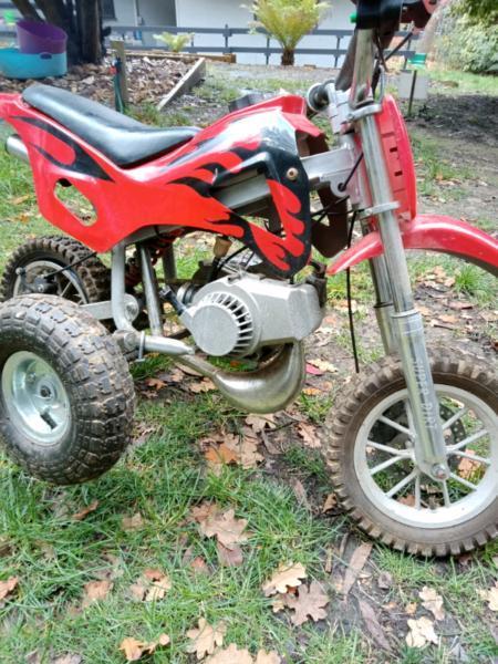 50cc dirt bike with training wheels