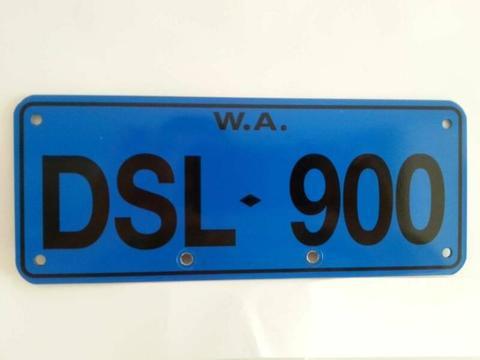 Ducati WA Number Plate