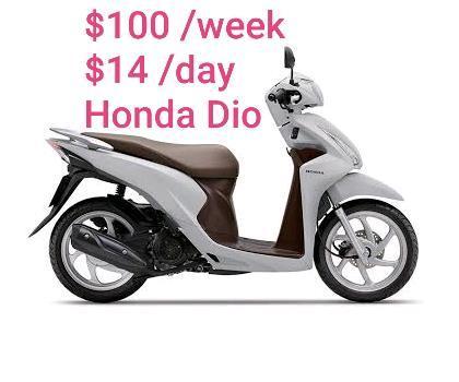 Rent $100/week HONDA DIO BEST PRICE in Sydney!!! Lowest bond $150