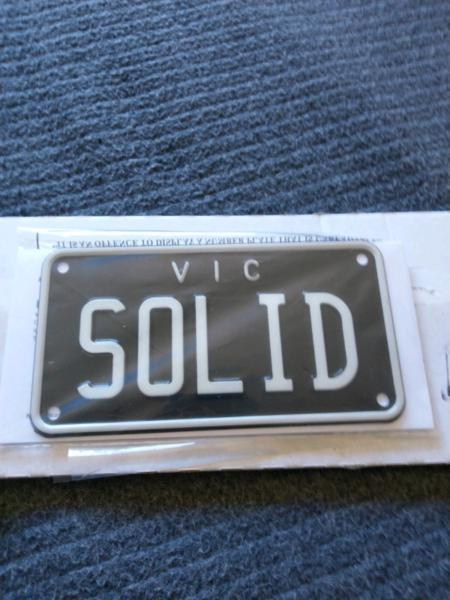 Vic custom plate for motorcycle