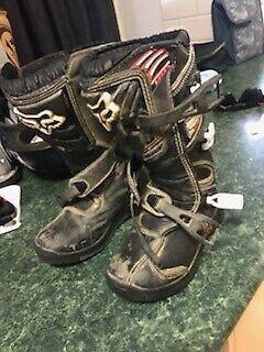 Fox Kids Dirt Bike Boots and Gloves