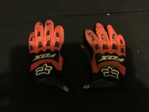 Fox motor bike gloves