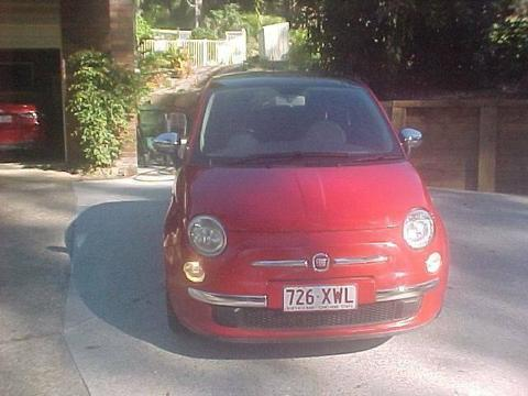 FIAT 500 LOUNGE 9/09 RED