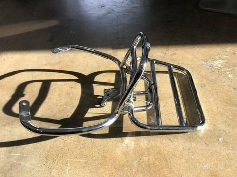 SELECTION OF LIGHTLY USED VESPA SCREENS AND RACKS!!!