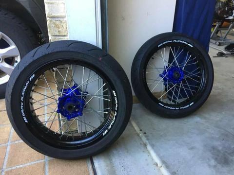 SM PRO Platinum Motard Wheels for Husqvarna FE / KTM EXC