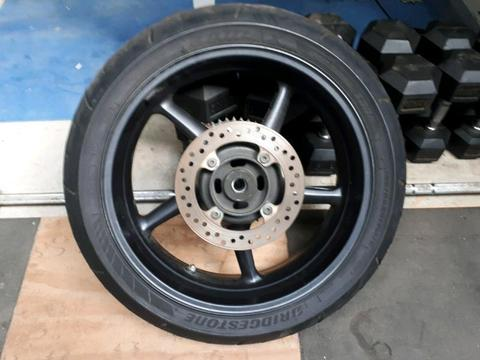 2008 triumph street triple rear wheel and brake