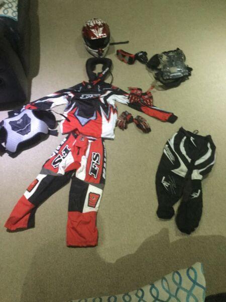 Kids motor bike protective clothing