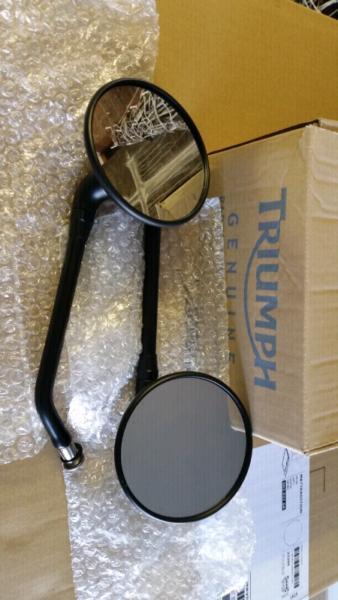 Triumph mirrors Black T100 bonneville