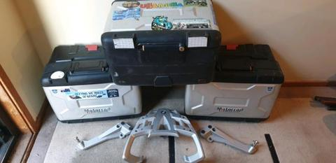 BMW 1200gs panniers and top box