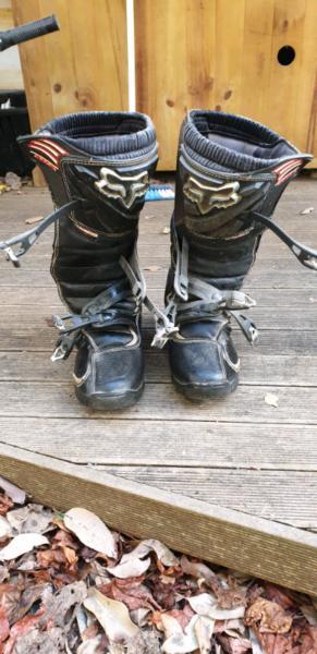 Fox racing motor bike boots