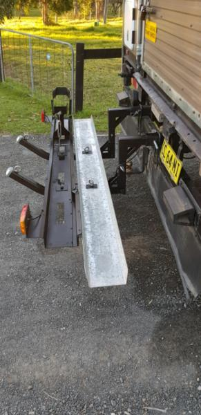 Heavy duty motorcycle rack
