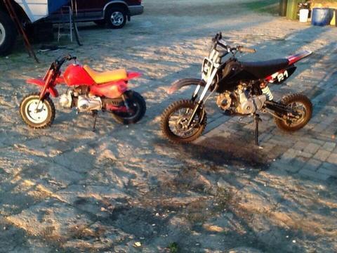 Motor bikes. X. 2. 110 cc. $600. $350
