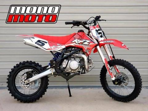 140CC 2019 RFZ140 $1,450 BIG WHEEL DIRT PIT BIKE BRISBANE ELSTAR