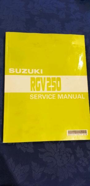 Suzuki RGV 250 service manual genuine
