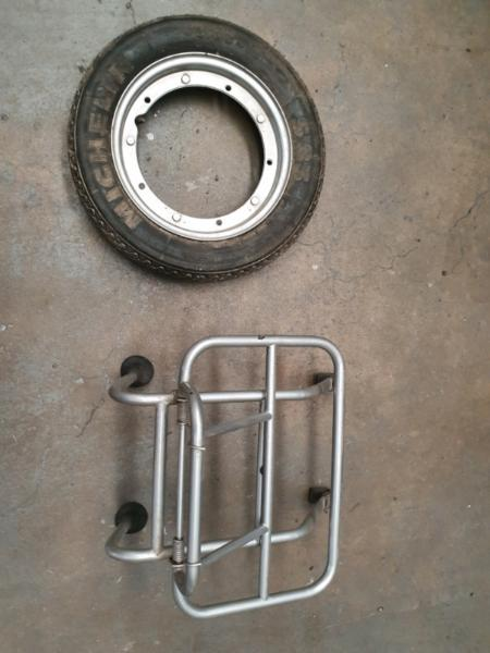 Vespa spare and luggage rack